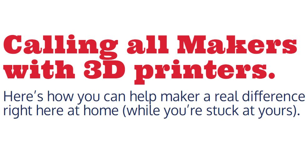Calling All Makers with 3D Printers