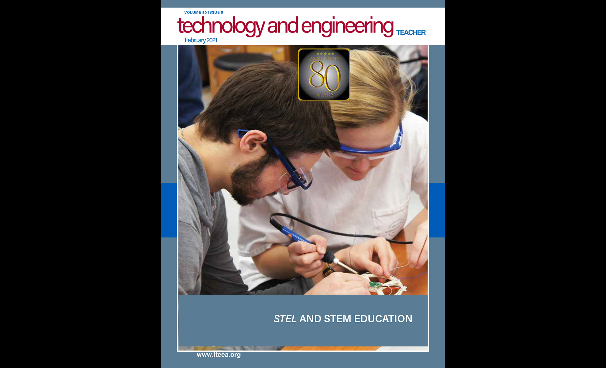 What's inside the  February 2021 Issue of  Technology and  Engineering Teacher?