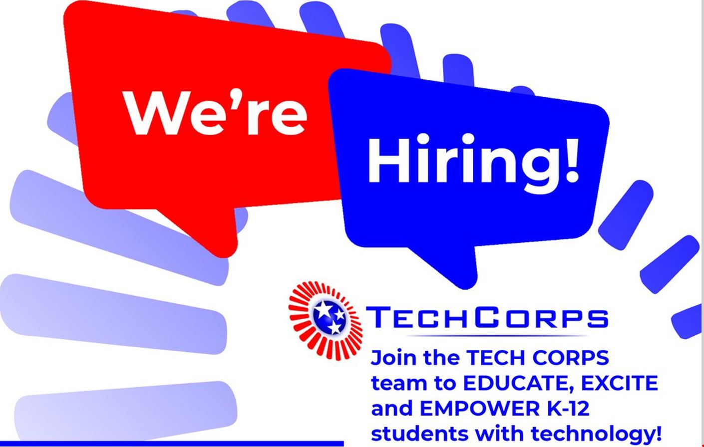 Tech Corps Now Hiring for Summer Opportunities