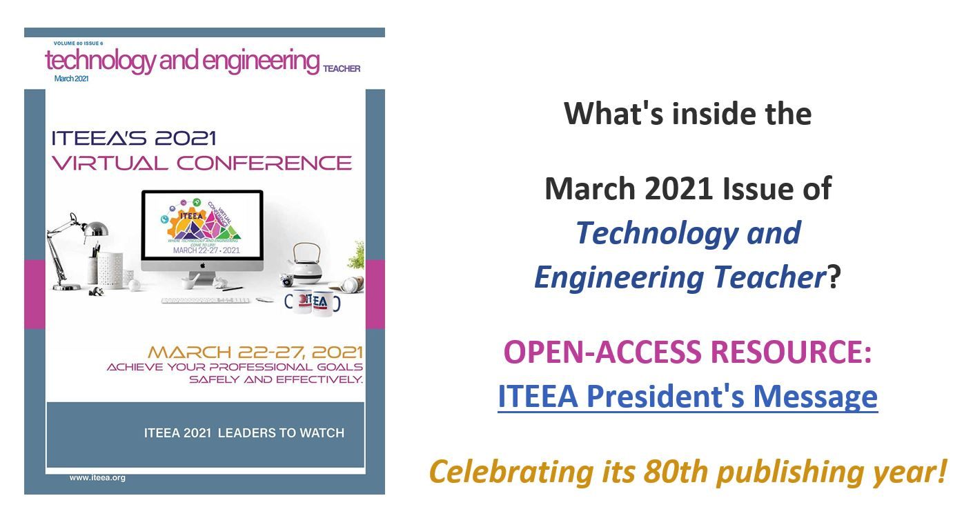 Take a Look Inside the March 2021 Issue of Technology and Engineering Teacher